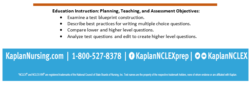 Kaplan nursing item writing and analysis workshop university of this continuing nursing education activity was approved by the tennessee nurses association an accredited approver by the american nurses credentialing malvernweather Gallery